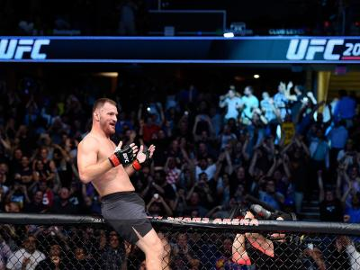 CLEVELAND, OH - SEPTEMBER 10:  Stipe Miocic celebrates after defeating Alistair Overeem of The Netherlands in their UFC heavyweight championship bout during the UFC 203 event at Quicken Loans Arena on September 10, 2016 in Cleveland, Ohio. (Photo by Josh