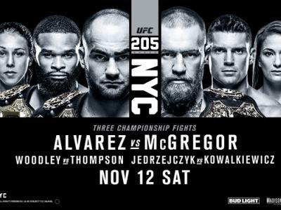 UFC 205 Joanna Jedrzejczyk, Tyron Woodley, Eddie Alvarez, Conor McGregor, Stephen Thompson, Karolina Kowalkiewicz