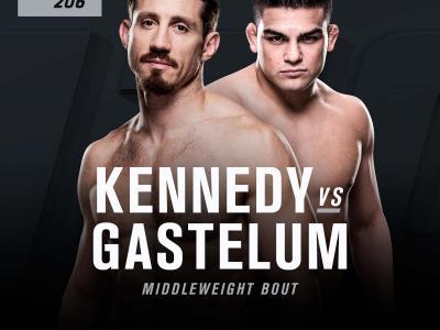 Tim Kennedy vs Kelvin Gastelum at UFC 206 official announcement art