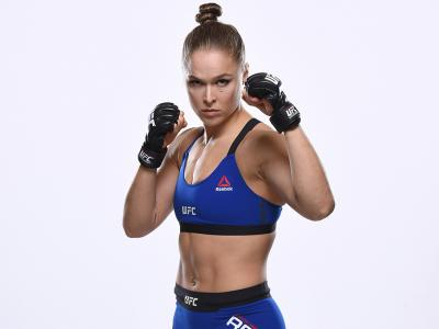 LAS VEGAS, NV - DECEMBER 26:  Ronda Rousey poses for a portrait during a UFC photo session inside the MGM Grand Conference Center on December 26, 2016 in Las Vegas, Nevada. (Photo by Jeff Bottari/Zuffa LLC/Zuffa LLC via Getty Images)