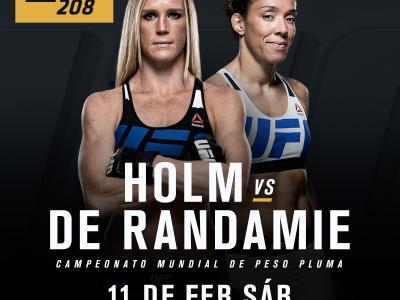 Holly Holm vs GErmaine de Randamie spanish announcement