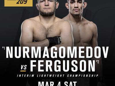 Khabib Nurmagomedov battles Tony Ferguson on at UFC 208 Mar. 4 for the interim UFC lightweight championship.