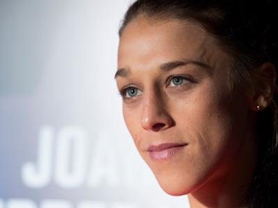 DALLAS, TX - MAY 10:  Joanna Jedrzejczyk speaks to the media during the UFC 211 Ultimate Media Day at the House of Blues Dallas on May 10, 2017 in Dallas, Texas. (Photo by Cooper Neill/Zuffa LLC/Zuffa LLC via Getty Images)