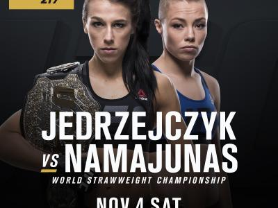 Joanna Jedrzejczyk UFC 217 Rose Namajunas World Strawweight Championship Nov 4, 2017
