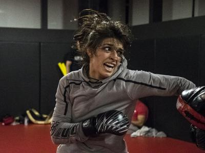Las Vegas 2/28/18 - Mackenzie Dern workout at the UFC Performance Institute in preparation for UFC 222 (Photo credit: Juan Cardenas)