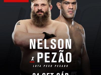 O brasileiro Antonio Pezão encara o veteranos Roy Nelson no dia 24 de setembro, no UFC Brasília.