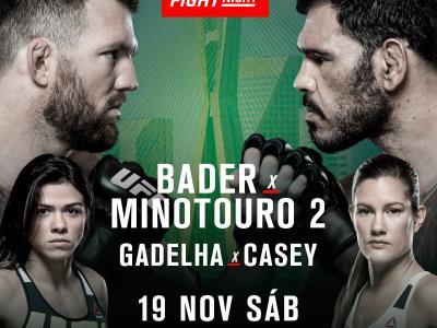 Rogério Minotauro, Ryan Bader, Claudia Gadelha