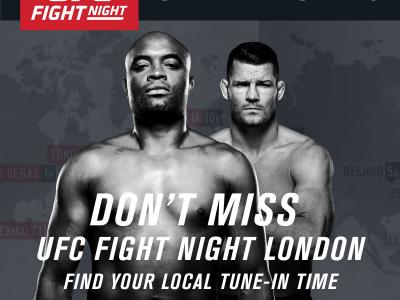 UFC Fight Night Silva vs Bisping London Global tune-in map teaser