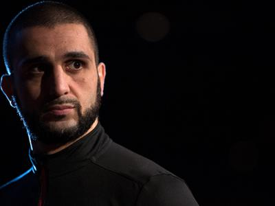 LAS VEGAS, NEVADA - JANUARY 01: Tristar Gym coach Firas Zahabi waits backstage during the UFC 195 weigh-in at the MGM Grand Conference Center on January 1, 2016 in Las Vegas, Nevada. (Photo by Jeff Bottari/Zuffa LLC/Zuffa LLC via Getty Images)