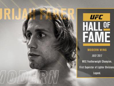 2017 UFC Hall of Fame class Urijah Faber Modern Wing