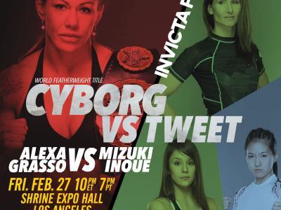 Invicta FC 11 Cris Cyborg vs Charmine Tweet Poster