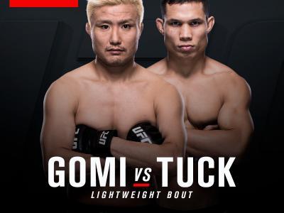 UFC FIGHT NIGHT SINGAPORE Light weight bout Takanori gomi vs Jon Tuck