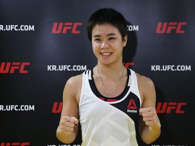 South Korean Female Fighter Seo Hee Ham UFC Korea Mediaday