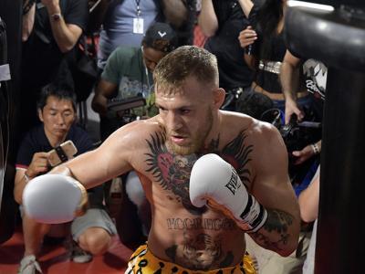 Las Vegas, 8/11/17 - Mayweather vs McGregor, Conor McGregor open workout
