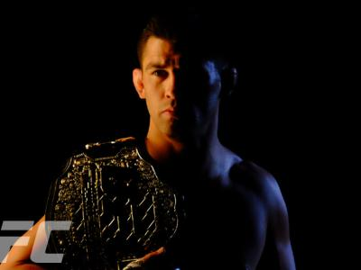 Pictures of the month - March 2016 - UFC Bantamweight champion Dominick Cruz poses during the UFC 199 promo shooting