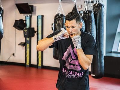 Las Vegas 5/1/18 - El peleador mexicano Martin Bravo y ganador de TUF Latinoamérica entrena en el UFC Performance Institute de las Vegas preparándose para su siguiente pelea en TUF Finale el 6 de Julio. (Crédito: Juan Cardenas)