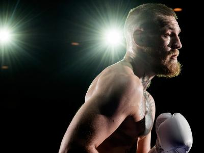 LAS VEGAS, NV - MARCH 2:   UFC featherweight champion Conor McGregor holds an open training session for fans and media at the  Jabbawockeez Theater in the MGM Grand Hotel/Casino on March 2, 2016 in Las Vegas, Nevada. (Photo by Brandon Magnus/Zuffa LLC/Zuf