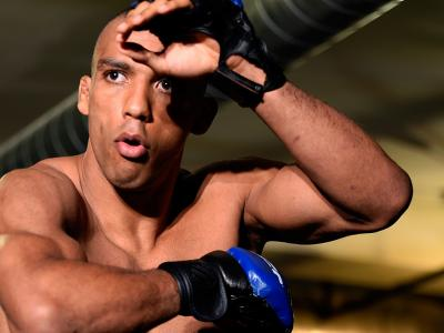 CHICAGO, IL - JULY 21:   Edson Barboza of Brazil holds an open workout session for media at the UFC Gym on July 21, 2016 in Chicago, Illinois. (Photo by Josh Hedges/Zuffa LLC/Zuffa LLC via Getty Images)