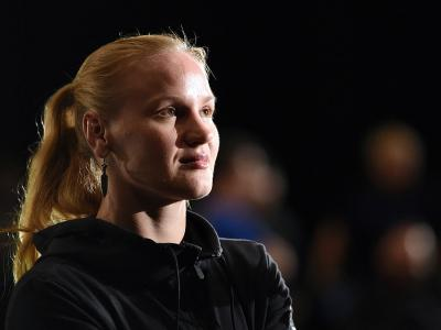 ORLANDO, FL - DECEMBER 18:  Valentina Shevchenko of Russia waits backstage during the UFC weigh-in inside the Orange County Convention Center on December 18, 2015 in Orlando, Florida.  (Photo by Mike Roach/Zuffa LLC/Zuffa LLC via Getty Images)