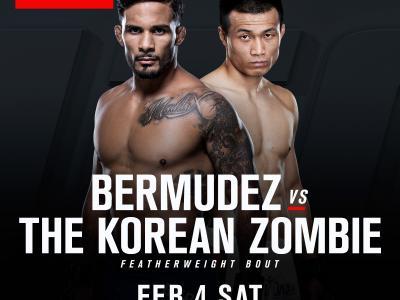 Dennis Bermudez vs Chan Sung Jung bout announcement