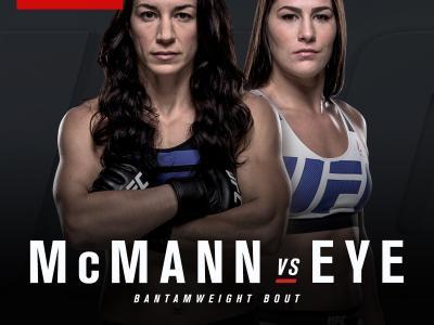 UFC Fight Night May 29 Las Vegas Mandalay Bay Sara McMann Jessica Eye
