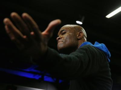 LONDON, ENGLAND - FEBRUARY 24:  Anderson Silva during the UFC Fight Night Open Workouts at JD Sports on February 24, 2016 in London, England.  (Photo by Scott Heavey/Zuffa LLC/Zuffa LLC via Getty Images)