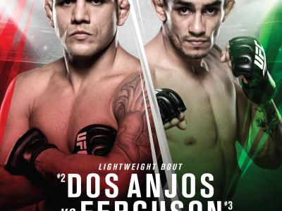 UFC Fight Night: Rafael Dos Anjos vs Tony Ferguson event poster