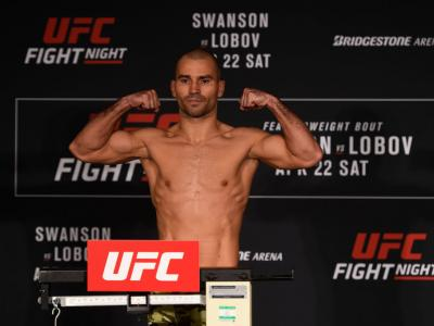 NASHVILLE, TN - APRIL 21:  Artem Lobov of Russia poses on the scale during the UFC Fight Night weigh-in at the Sheraton Music City Hotel on April 21, 2017 in Nashville, Tennessee. (Photo by Jeff Bottari/Zuffa LLC/Zuffa LLC via Getty Images)
