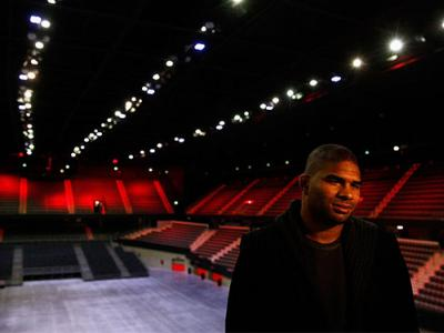 ROTTERDAM, NETHERLANDS - MARCH 22:  Alistair Overeem of the Netherlands speaks to the media during the UFC photo call at Ahoy on March 22, 2016 in Rotterdam, Netherlands.  UFC Fight Night 87 takes place May 8 at Ahoy Rotterdam.  (Photo by Dean Mouhtaropou