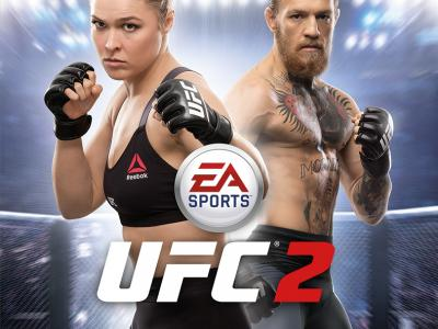EA Sports UFC 2 xbox one cover ronda rousey conor mcgregor