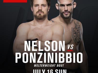 UFC Fight Night: Glasgow July 16 2017 The SSE Hydro Gunnar Nelson vs Santiago Ponzinibbio