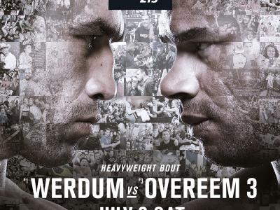 UFC 213 July 8 2017 Las Vegas Fabricio Werdum vs Alistair Overeem