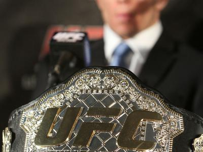 UFC 124: Georges St-Pierre and his Welterweight Belt