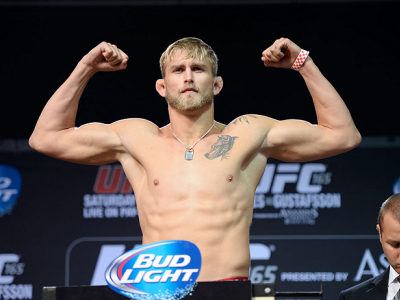 TORONTO, CANADA - SEPTEMBER 20:  Alexander 'The Mauler' Gustafsson weighs in during the UFC 165 weigh-in at the Maple Leaf Square on September 20, 2013 in Toronto, Ontario, Canada. (Photo by Jeff Bottari/Zuffa LLC/Zuffa LLC via Getty Images)