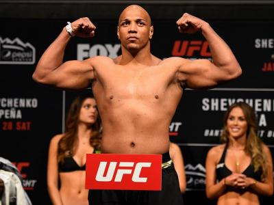 DENVER, COLORADO - JANUARY 27:  Marcos Rogerio de Lima of Brazil poses on the scale during the UFC Fight Night weigh-in at the Pepsi Center on January 27, 2017 in Denver, Colorado. (Photo by Josh Hedges/Zuffa LLC/Zuffa LLC via Getty Images)