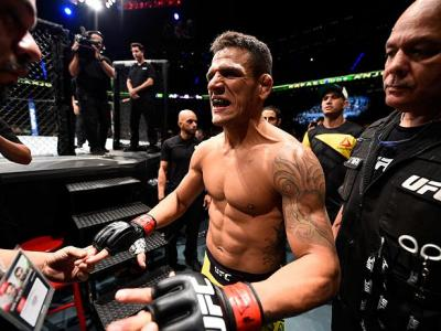 MEXICO CITY, MEXICO - NOVEMBER 05:  Rafael Dos Anjos of Brazil prepares to enter the Octagon before facing Tony Ferguson of the United States  in their lightweight bout during the UFC Fight Night event at Arena Ciudad de Mexico on November 5, 2016 in Mexi