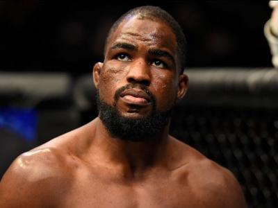 LONDON, ENGLAND - MARCH 18:  Corey Anderson enters the Octagon before facing Jimi Manuwa of England in their light heavyweight fight during the UFC Fight Night event at The O2 arena on March 18, 2017 in London, England. (Photo by Josh Hedges/Zuffa LLC/Zuf