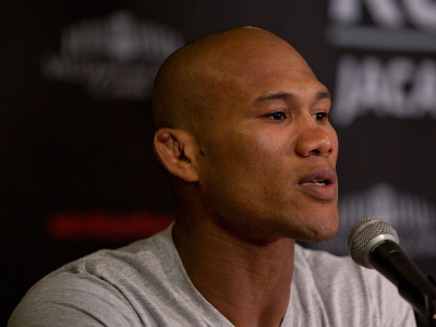 SAN DIEOGO, CA - AUGUST 16: Ronaldo Souza interacts with media and fans during the Strikeforce press conference at the Valley View Casino Center on August 16, 2012 in San Diego, Calofornia. (Photo by Esther Lin/Forza LLC)