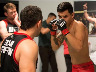 BUENOS AIRES, ARGENTINA - MAY 20:  Pablo Sabori warms up before facing Santiago Cardenas during the filming of The Ultimate Fighter Latin America: Team Liddell vs Team Griffin on May 20, 2016 in Buenos Aires, Argentina. (Photo by Gabriel Rossi/Zuffa LLC/Z