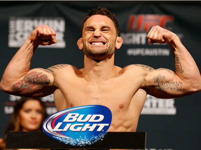 AUSTIN, TX - NOVEMBER 21:  Frankie Edgar poses on the scale after weighing in during the UFC weigh-in at The Frank Erwin Center on November 21, 2014 in Austin, Texas.  (Photo by Josh Hedges/Zuffa LLC/Zuffa LLC via Getty Images)