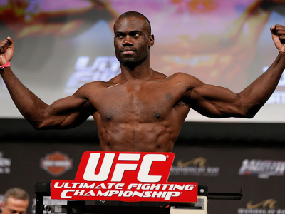 LAS VEGAS, NV - APRIL 12: Uriah Hall weighs in during the TUF 17 Finale weigh-in at the Hollywood Theatre at the MGM Grand Hotel/Casino on April 12, 2013 in Las Vegas, Nevada. (Photo by Josh Hedges/Zuffa LLC/Zuffa LLC via Getty Images)