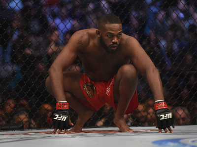 LAS VEGAS, NV - JANUARY 03:  Jon Jones prepares for his UFC light heavyweight championship bout against Daniel Cormier during the UFC 182 event at the MGM Grand Garden Arena on January 3, 2015 in Las Vegas, Nevada.  (Photo by Jeff Bottari/Zuffa LLC/Zuffa