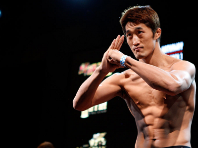 MACAU - FEBRUARY 28:  Dong Hyun Kim during the UFC weigh-in event at the Venetian Macau on February 28, 2014 in Macau. (Photo by Mitch Viquez/Zuffa LLC/Zuffa LLC via Getty Images)