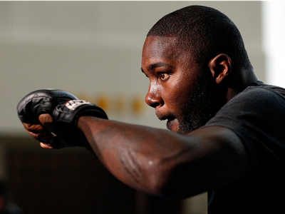 SAN JOSE, CA - JULY 24: Anthony Johnson holds an open training session for media and fans at the SAP Center on July 24, 2014 in San Jose, California. (Photo by Josh Hedges/Zuffa LLC/Zuffa LLC via Getty Images)