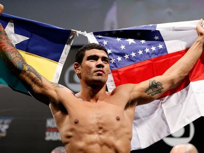 FORTALEZA, BRAZIL - JUNE 07:  Antonio Braga Neto weighs in during the UFC weigh-in at Paulo Sarasate Arena on June 7, 2013 in Fortaleza, Ceara, Brazil.  (Photo by Josh Hedges/Zuffa LLC/Zuffa LLC via Getty Images)